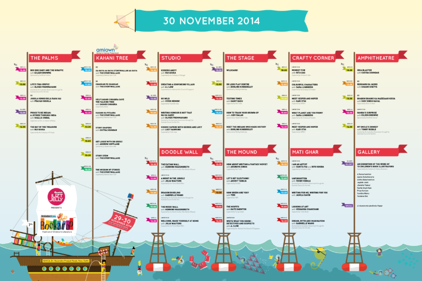 Bookaroo 2014 Schedule Board