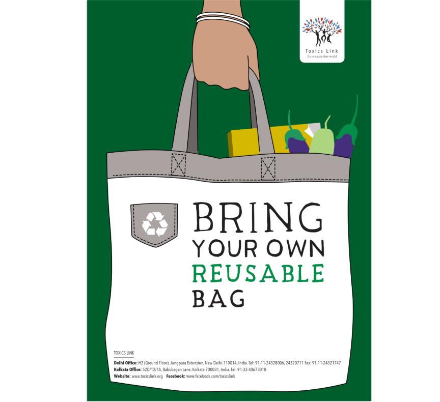 Toxics Link Plastic Ban Poster Back